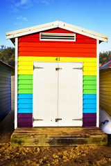 Colorful rainbow hut