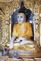 buddha statue, in pagoda Myanmar