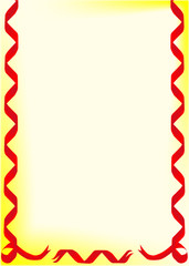 Page border of red ribbons
