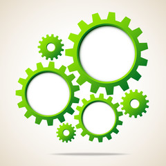 Green Gears Abstract Background
