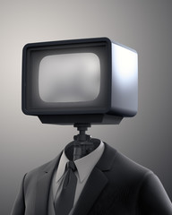 Vintage TV set robot