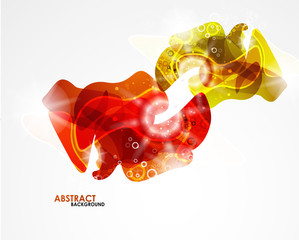 Abstract colorful modern smooth shape