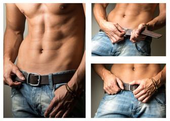 Male fashion jeans