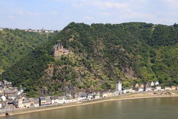 Burg Katz oberhalb von St. Goarshausen (2013)