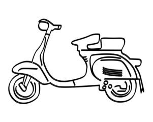 side art scooter