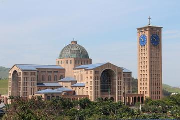 The monumental Cathedral of Aparecida do Norte