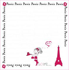 I love Paris. card. vector