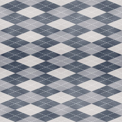 Seamless geometric pattern on paper texture in argyle style