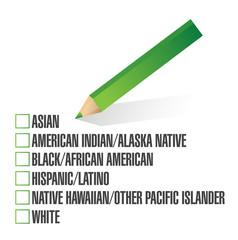 race selection. pick. illustration design