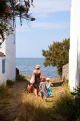 Vendée > Noirmoutier > Plage > Famille