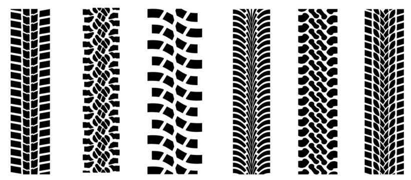 Black tire tracks