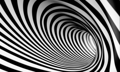 Fondo espiral abstracta 3d en blanco y negro