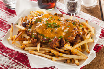 Unhealthy Messy Chili Cheese Fries
