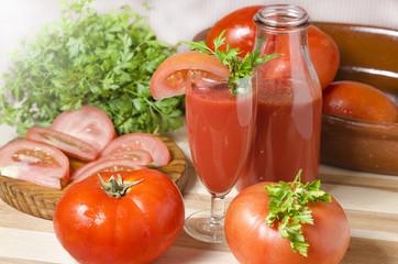 Juice of tomatoes