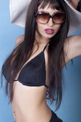 woman in a bikini