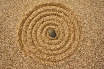 Keuken foto achterwand Spiraal Landart Zen, Spirale der Unendlichkeit