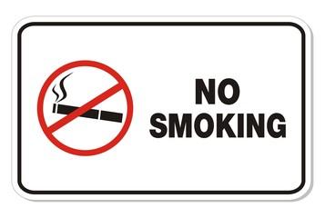 no smoking - rectangle sign