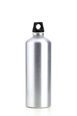 aluminun canteen in a white background