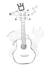 Hand drawn guitar