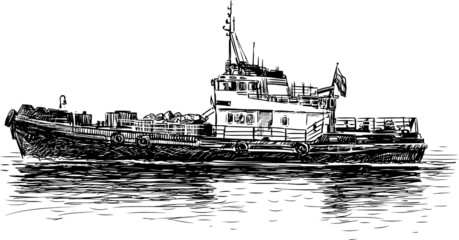 river tugboat