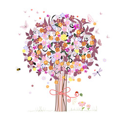 Festive romantic tree