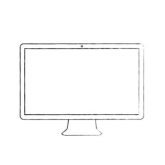 Hand-drawn computer display vector illustration