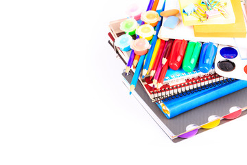 Office stationary. Back to school concept