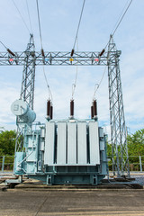 Transformer station and high voltage electric pole