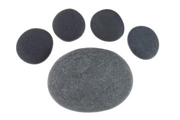 Symbol Tierpfote aus Kieselsteinen