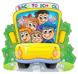 Image with school bus theme 2