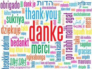 """""""DANKE"""" Karte (Vielen Dank Sehr Schön Schlagwortwolke Bild)"""