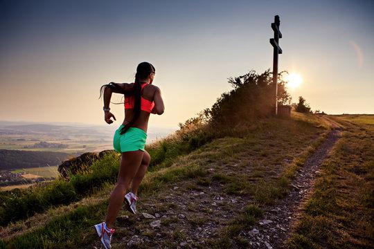running to the peak
