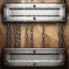 metal and paper background