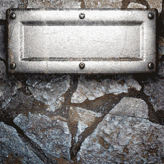 metal and stone background