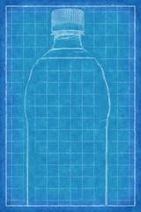 Plastic bottle - Blue Print