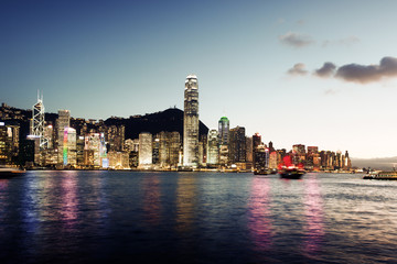 Fotomurales - Skyline of Hong Kong
