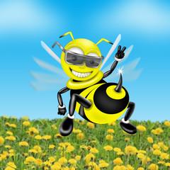 Bee illustration.