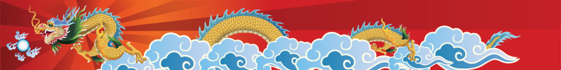 dragon flying on the sky