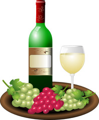 Weißwein Weintrauben Schale
