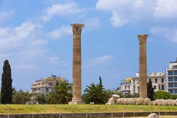 Fotomurales - ancient Temple of Olympian Zeus , Athens, Greece