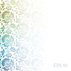 Colorful floral background. EPS 10.