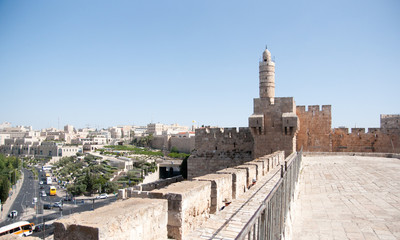 Old walls walk in Jerusalem