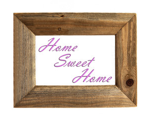 Home Sweet Home - Picture Frame - Pink - Isolated