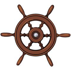 vector ship's wheel