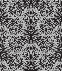 Floral graphic hand-drawn seamless pattern.