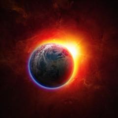 Fototapete - Planet Earth in space