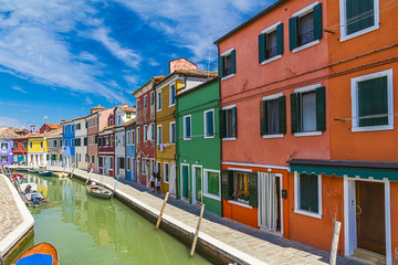Burano island in Venice,Italy
