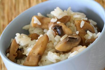 Mushroom risotto, close up