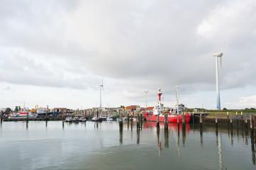 Harbor at German wadden island Borkum