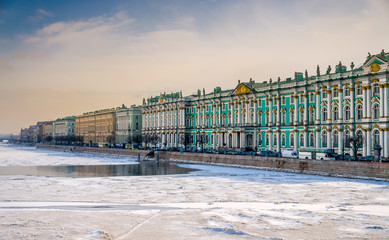 View of Saint Petersburg and Neva River